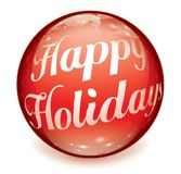 Happy Holidays Text Ball Stock Photography
