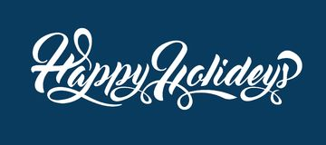Happy Holidays text Royalty Free Stock Images