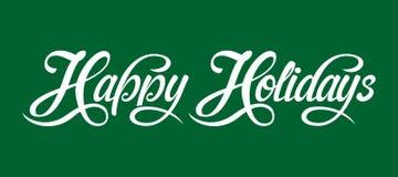Happy Holidays text Royalty Free Stock Image