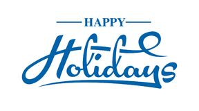 Happy Holidays text. Happy Holidays calligraphic text on white background. n vector illustration