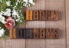 Happy Holidays Text Stock Photo