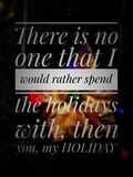 Happy Holidays Text Label With Blurred Background stock images