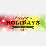 Happy Holidays to you 2015. ! Multicolor Christmas poster Royalty Free Stock Images