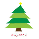Happy Holidays Tree. Happy holidays merry Christmas tree Royalty Free Stock Photography