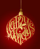 Happy Holidays Typography Ornament. In eps10 vector format Royalty Free Stock Photography