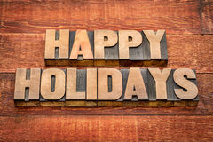 Happy holidays typography Stock Images