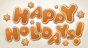 Happy Holidays, vector greeting card template Stock Photos