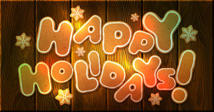 Happy Holidays, vector greeting card template Royalty Free Stock Image