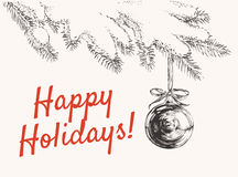 Happy Holidays Vector illustration.  Stock Image