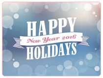 Happy Holidays vector illustration. Royalty Free Stock Image