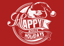 Happy holidays. Vector illustration ideal for printing on apparel clothes Stock Image