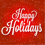 Happy Holidays Vector Illustration On Abstract Royalty Free Stock Image