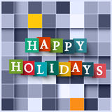 Happy Holidays Vector Paper Square Background Royalty Free Stock Image
