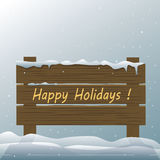 Happy Holidays Vector Royalty Free Stock Images
