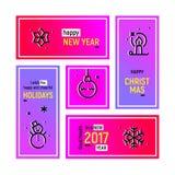 Happy Holidays Web Banners Set Royalty Free Stock Photo