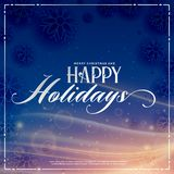 Happy holidays winter season greeting with light effect Royalty Free Stock Images