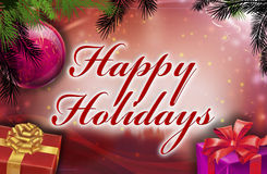 Happy holidays wishes. With background Royalty Free Stock Photos