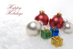 Happy Holidays Wishes for the Christmas Season. Horizontal Image Royalty Free Stock Images