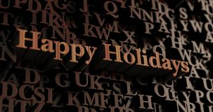 Happy Holidays - Wooden 3D rendered letters/message Royalty Free Stock Photography