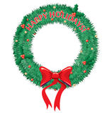 Happy Holidays Wreath. A festive wreath with Happy Holidays Written on it royalty free illustration