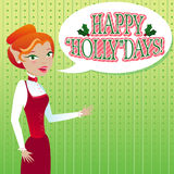 Happy Holly Days Stock Image