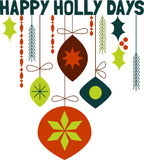 Happy Holly Days Stock Photos