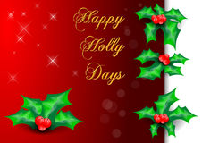 Happy Hollydays Royalty Free Stock Photos