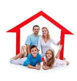 Happy home concept Stock Photos