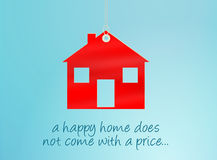 Happy Home Tag Stock Photo