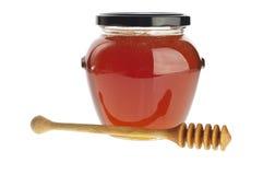 Happy honey jar Royalty Free Stock Photo