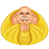 Happy Hotei Buddha stock illustration