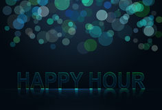 Happy hour. Wording with neon effect Stock Image