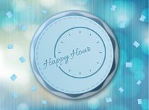 Happy hour background with clock Stock Image
