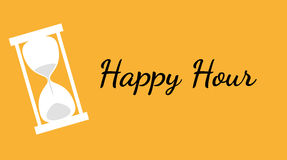 Happy hour background with clock Stock Images