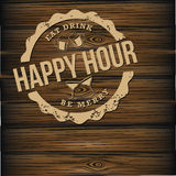Happy hour beer background royalty free illustration Stock Photography