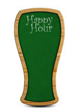 Happy Hour. Beer mug signage for happy hour Royalty Free Stock Images
