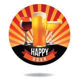 Happy hour burst design icon Royalty Free Stock Photo