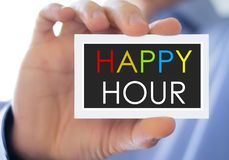 Happy Hour. Business card concept stock photography