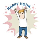 Happy hour Stock Photo