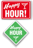 Happy Hour Cocktail bar signs Stock Photos