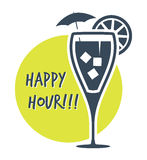 Happy Hour Cocktail Royalty Free Stock Photography