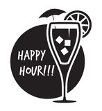 Happy Hour Cocktail Stock Images