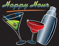 Happy Hour Cocktails Royalty Free Stock Image