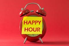 Happy hour con l'orologio classico Fotografia Stock Libera da Diritti