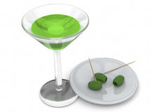 Happy Hour - 3D Royalty Free Stock Images