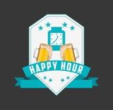 Happy hour design Royalty Free Stock Photo