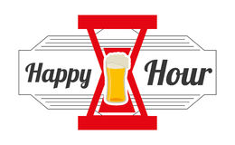 Happy hour design Stock Images