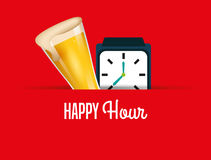 Happy hour design Royalty Free Stock Photography