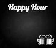 Happy hour design Stock Photo