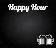 Happy hour design. Over black background vector illustration royalty free illustration